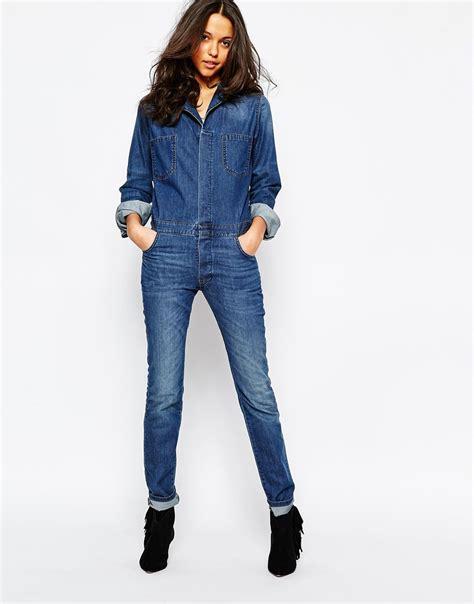 Ba&sh Madison Denim Jumpsuit   Blue Jeans   Lyst
