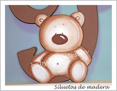 BABY DELICATESSEN LETRAS DE MADERA: LETRA XL CON OSITO