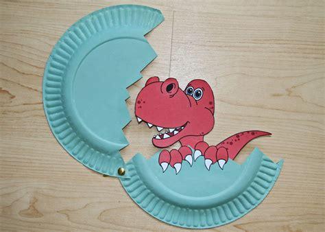 Baby Dinosaur Paper Plate Craft