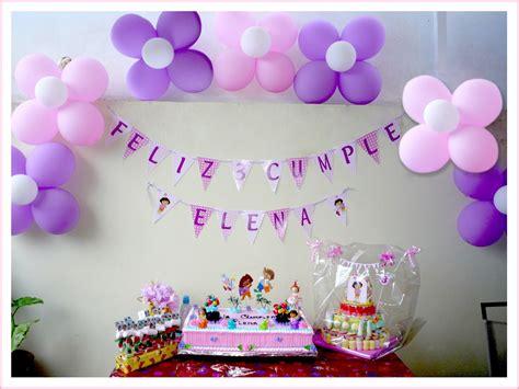 Baby Nina Fiestas: Cumple Dora la exploradora para Elena