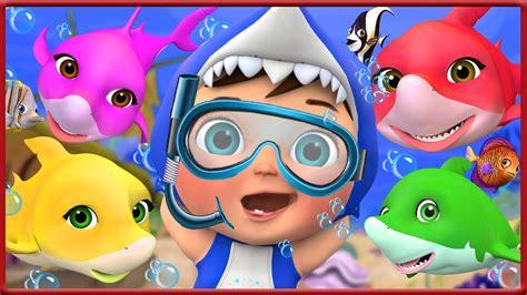 Baby Shark Dance | Baby under Sea play with shark | Banana ...