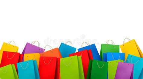 Background With Colorful Shopping Bags. Discount C Stock ...