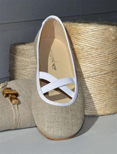Bailarina de lino para niñas, zapatos comunión. www ...