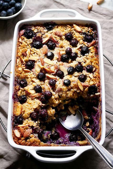 Baked Blueberry Oatmeal Recipe — Eatwell101