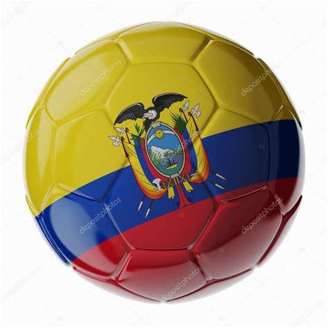 Balón de fútbol. Bandera de Ecuador — Fotos de Stock ...