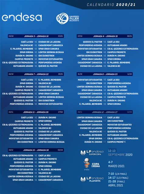 Baloncesto: la Liga Femenina Endesa 2020 21 ya tiene ...