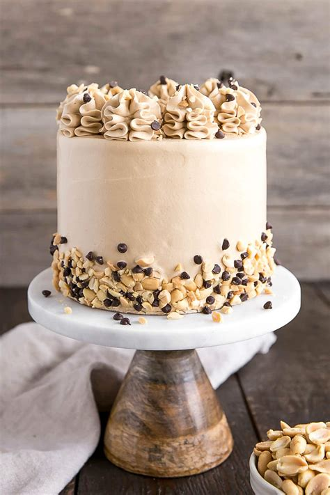 Banana Chocolate Chip Cake with Peanut Butter Frosting ...