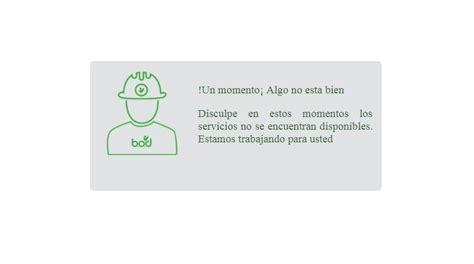 Banca digital de BOD se encuentra fuera de servicio