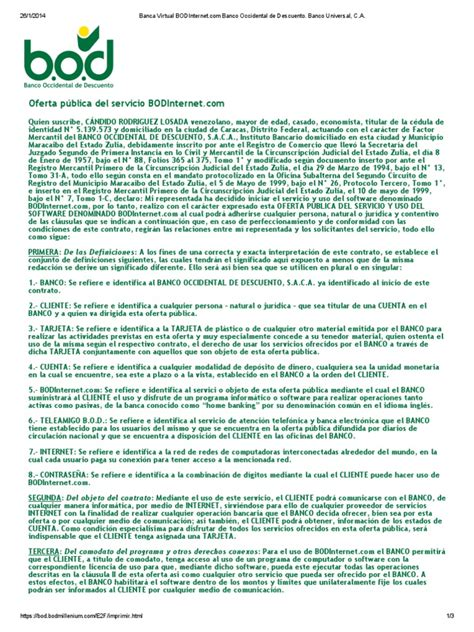 Banca Virtual BODInternet.com Banco Occidental de ...