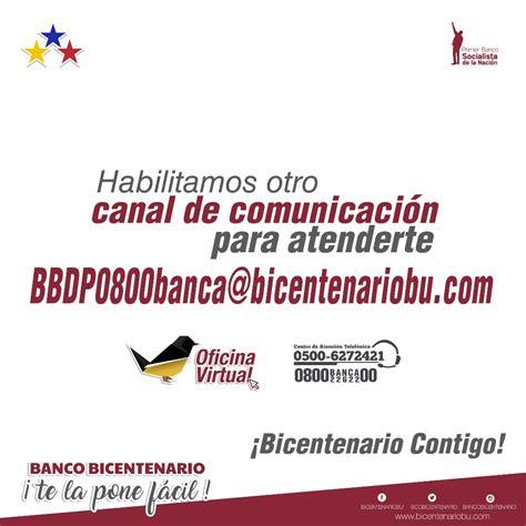 Banco Bicentenario abre nuevo canal electrónico para ...