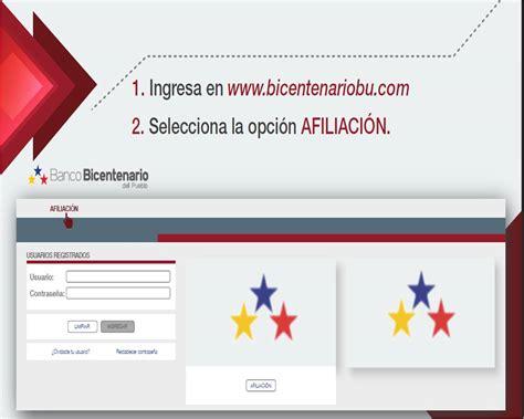 Banco Bicentenario Consulta De Saldo Tarjeta De Debito ...