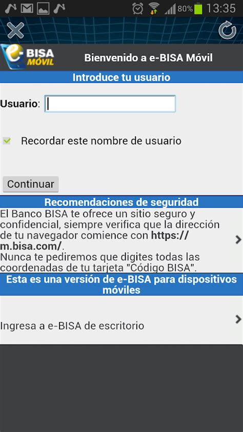 Banco Bisa   Android Apps on Google Play