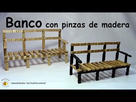 banco con pinzas de madera manualidades / bench or sofa ...