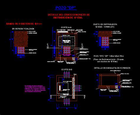 Banco de ductos electricos en AutoCAD   CAD  341.97 KB ...