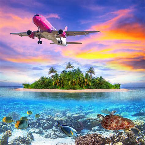 BANCO DE IMÁGENES GRATIS: Avión volando sobre islas del ...