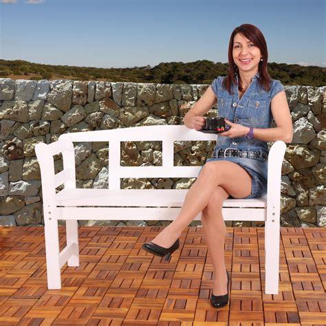 Banco de madera para jardín BREMEN de 118 cm Alta calidad ...