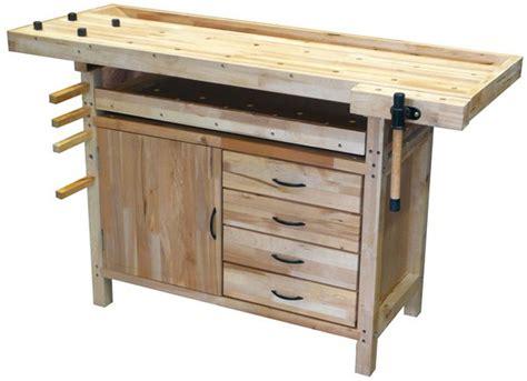 Banco de trabajo de madera con cajones de Woodman   411,60 ...
