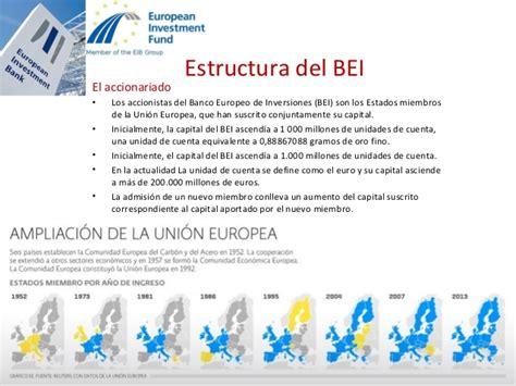 Banco Europeo de Inversiones  BEI  presentación