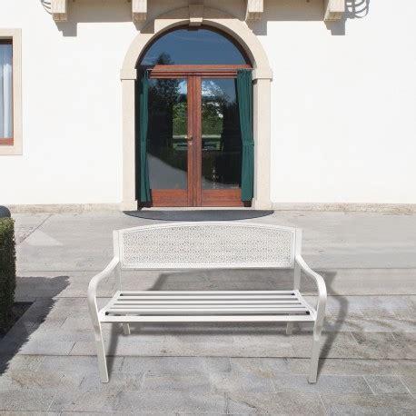 Banco Jardin Papillon Dothan Blanco 128x56x85  Alt.  cm ...