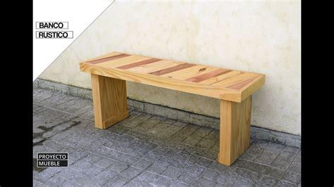 Banco Rustico con Madera Reciclada  Rustic Bench    YouTube