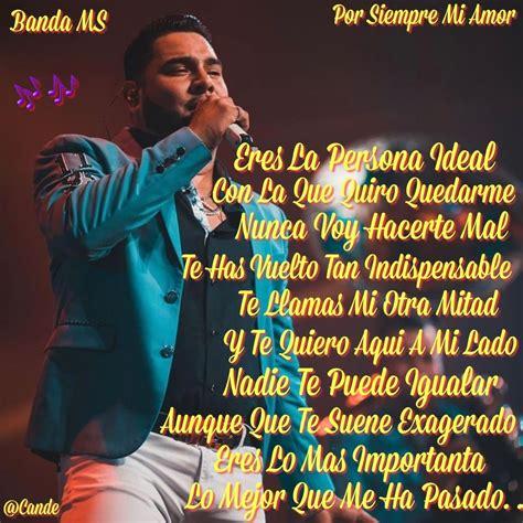 Banda Ms   Por Siempre Mi Amor | Frases de banda ms ...