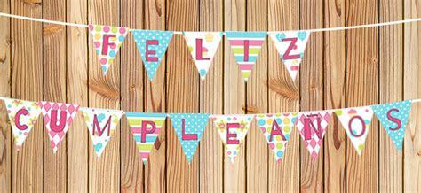 Banderín de feliz cumpleaños para imprimir   Cartel Gratis