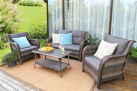 Baner Garden N76 Resin Wicker Outdoor Patio Furniture Set ...