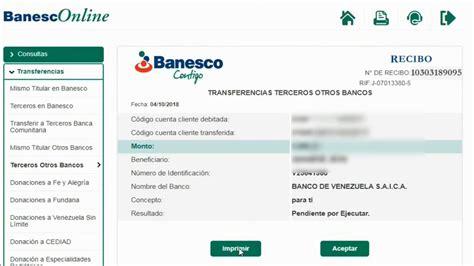 BANESCO TRANSFERENCIA A OTROS BANCOS YA REGISTRADOS   YouTube