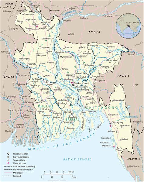 Bangladesh Map, Dhaka   Asia