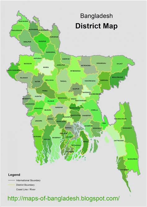 Bangladesh map district wise   Map of Bangladesh district ...