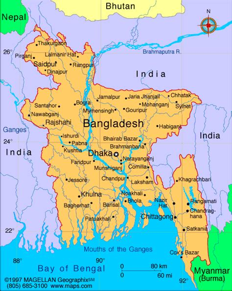 Bangladesh Map | Infoplease