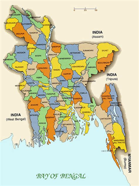 Bangladesh Map – whole country map with details ~ Dream Dot