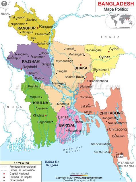Bangladesh Mapa | Mapa de Países | Pinterest | Asia