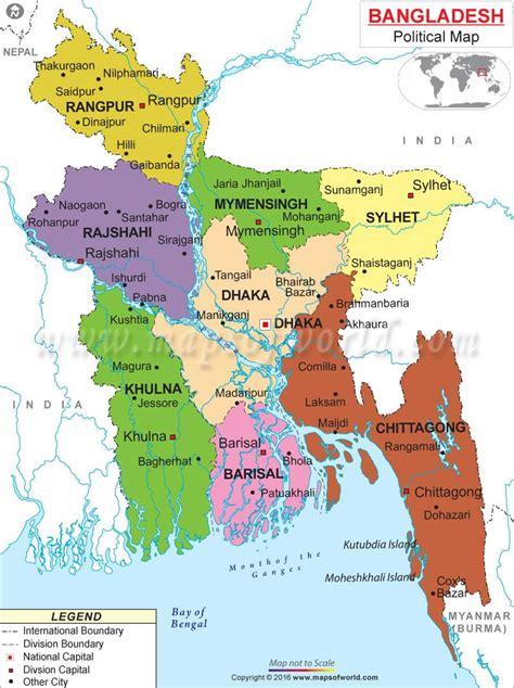 Bangladesh on map   Map in Bangladesh  Southern Asia   Asia