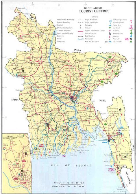 Bangladesh Tourist Center Map   Bangladesh • mappery