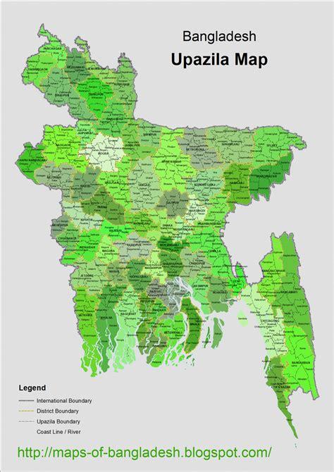 Bangladesh Upazila Map Download