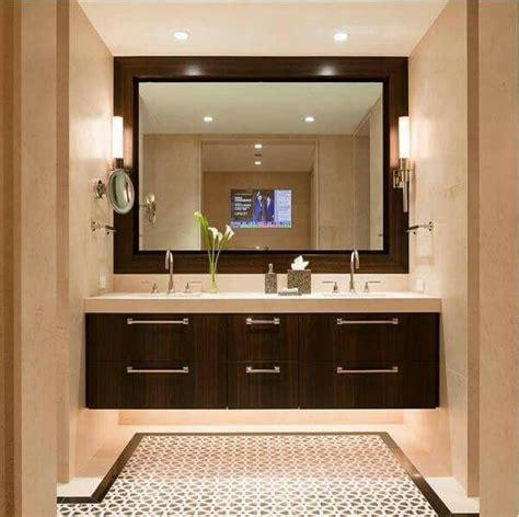 baño con espejo grande y dos lavamanos | Muebles para ...