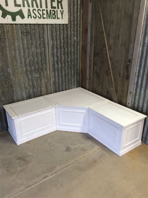 Banquette  Corner Bench Seat with Storage UNFINISHED ...