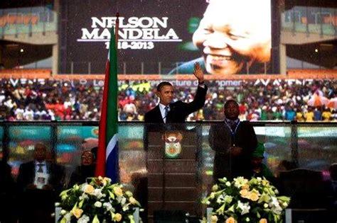 Barack Obama   Nelson Mandela Memorial Speech   American ...