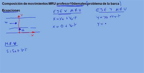 Barca 01 Composición de movimientos MRU ecuaciones   YouTube