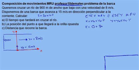 Barca 02 Composición de movimientos MRU ejercicio resuelto ...