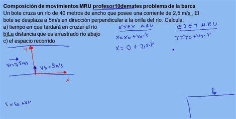 Barca 03 Composición de movimientos MRU ejercicio resuelto ...