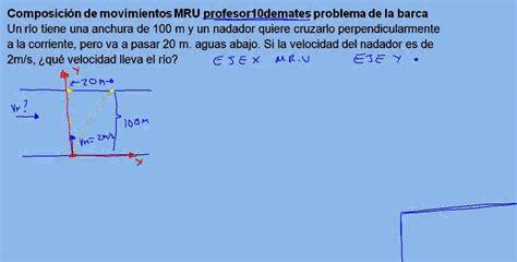 Barca 04 Composición de movimientos MRU ejercicio resuelto ...