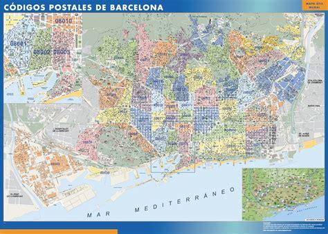 Barcelona Codigos Postales mapa magnetico   A vector eps ...