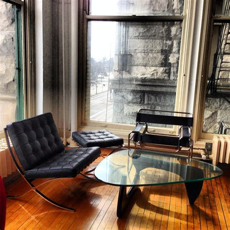 Barcelona Exhibition Chair + Ottoman, Wassily Chair and ...