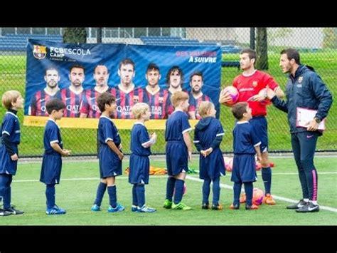 Barcelona futebol escolinha   YouTube