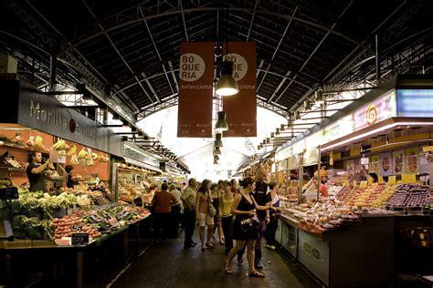BARCELONA_ La Boqueria. Large food market in the center of ...