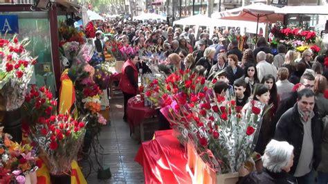 BARCELONA La Diada de Sant Jordi 2012   YouTube