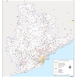 Barcelona   mapa provincial con municipios, códigos ...