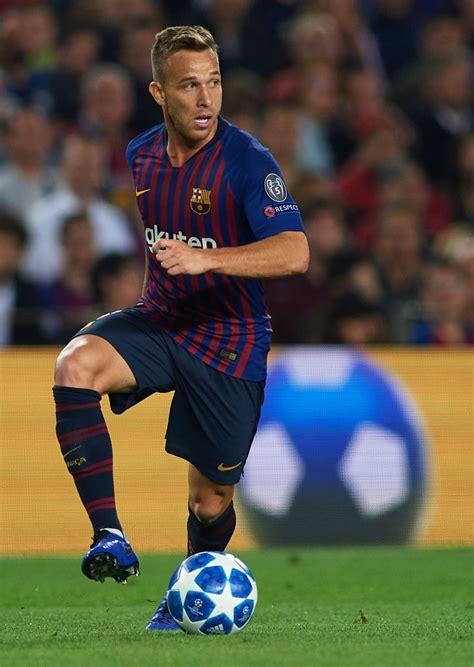 BARCELONA, SPAIN   OCTOBER 24: Arthur of Barcelona runs ...